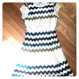 Midi Crochet Dress in Cute Stripes